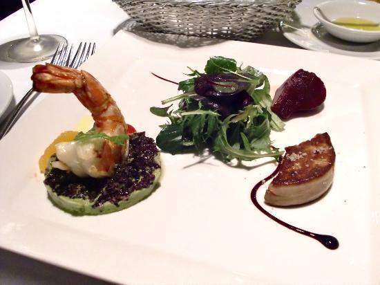 Senso Ristorante and Bar: Foie Gras and King Prawn Entrees