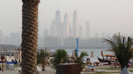 Rixos The Palm Dubai: view from the sunbeds at pool