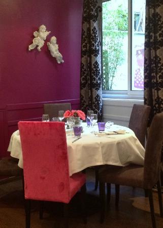 Aux P'tits Anges: Le Restaurant ; une ambiance cosy baroque chic
