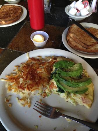 Novak's: 1/2 eaten omelette