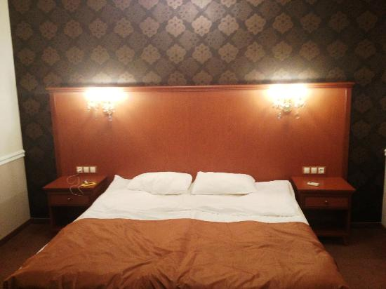 Asteria Hotel: The bed was not wrinkled like in the photo - we did it by jumping on it suprised at room quality