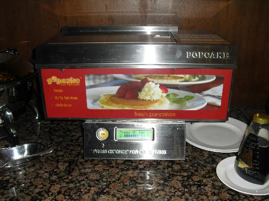 Bracewells: Automatic Pancake Machine at Breakfast Buffet