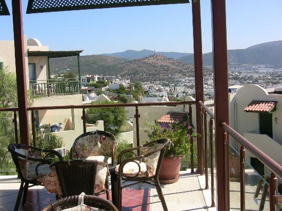Dedeman Club Bodrum: Panorama from the upstairs bar
