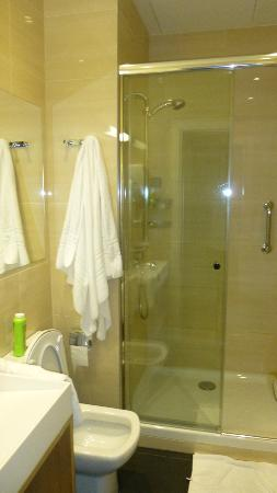 Hotel Zenit Budapest Palace: Bathroom is quite small