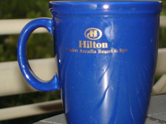 Hilton Phuket Arcadia Resort & Spa: Mugs in restaurant