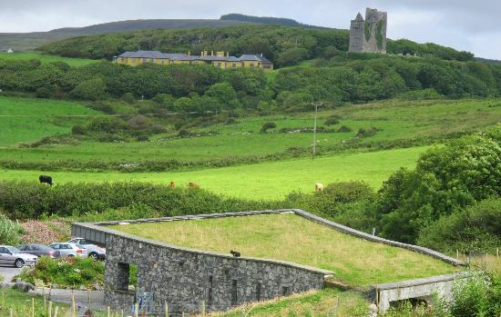 Doolin Cave: Doolin Cave : view from the nature trail across to Ballinalacken Castle
