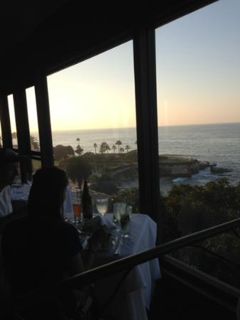 The Steakhouse at Azul La Jolla : Steakhouse at Azul sunset views!