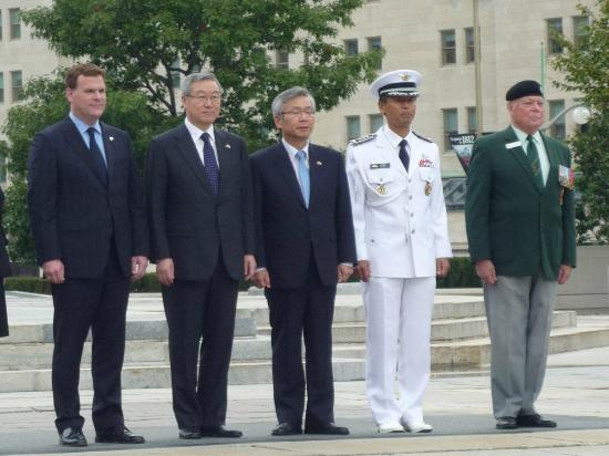 National War Memorial: Korean Delegation at War Memorial