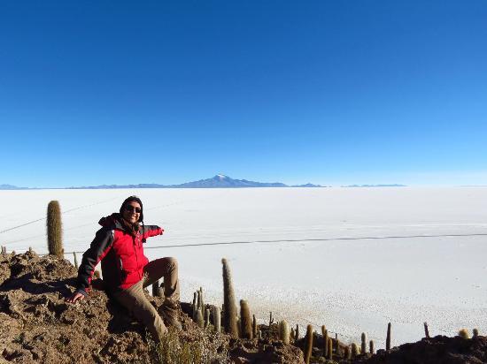 Salar de Uyuni: Salar Uyuni desde Isla Incahuasi