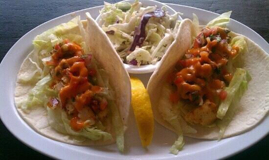 Pirates Pub and Grub:                   Fish tacos at the pirates pub n grub