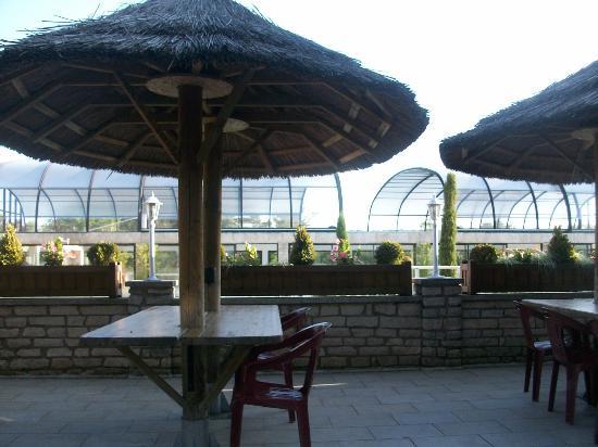 La Croix du Vieux Pont: Pool Area (from bar) 