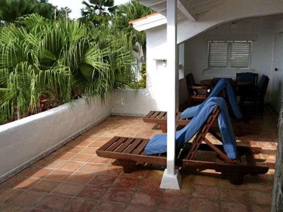 Windjammer Landing Villa Beach Resort: our patio