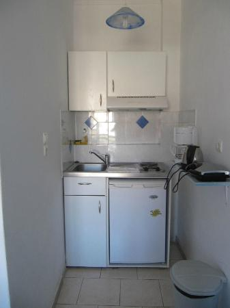 Old Town Pension: our first kitchenette