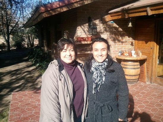 Lujan de Cuyo B&B: With friendly and helpful hostess Angela (w/scarf)