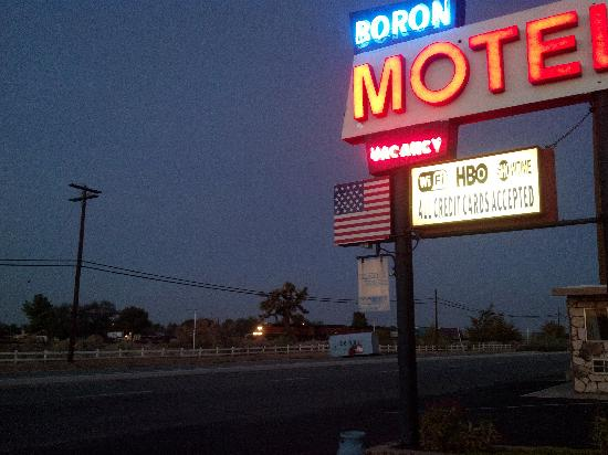 Boron Motel: The train runs all night long across from hotel