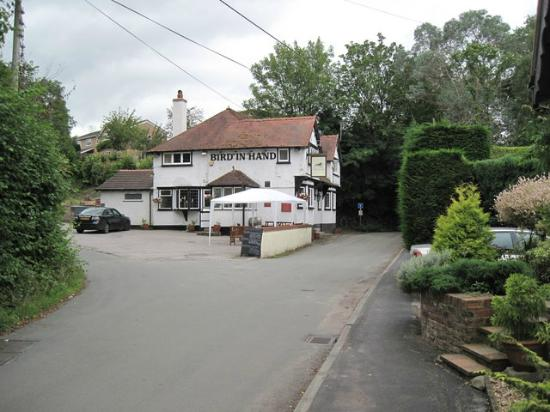 The Bird in Hand: view of the pub from the road