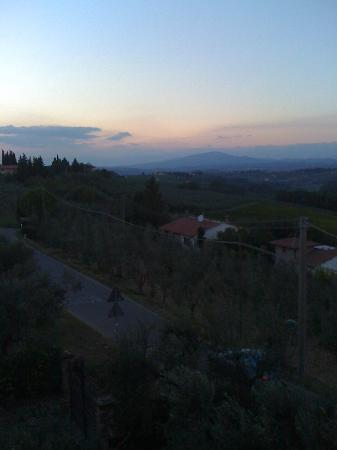 Villa Le Torri: Your sunset view from the kitchen or unit 2 rooms.