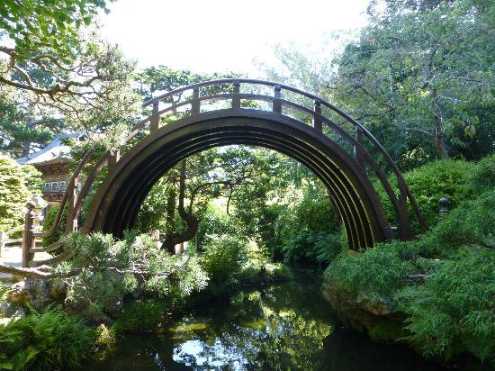 Quite A Steep High Bridge Picture Of Japanese Tea Garden