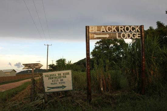 Black Rock Lodge Sign