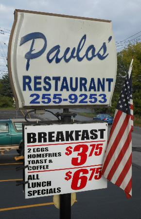 Pavlos' Restaurant: Sign