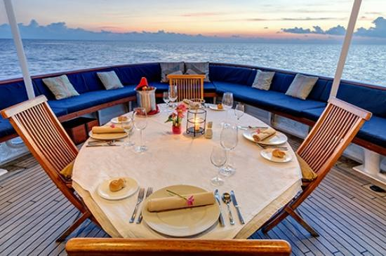 Wakatobi Dive Resort: Pelagian Dive Yacht rear deck