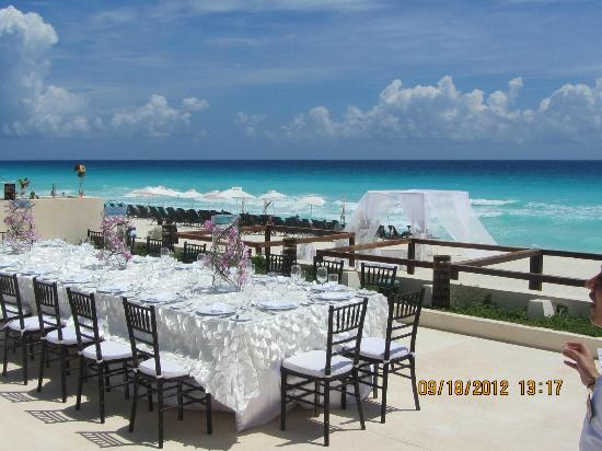 Secrets The Vine Cancun Wedding Set Up