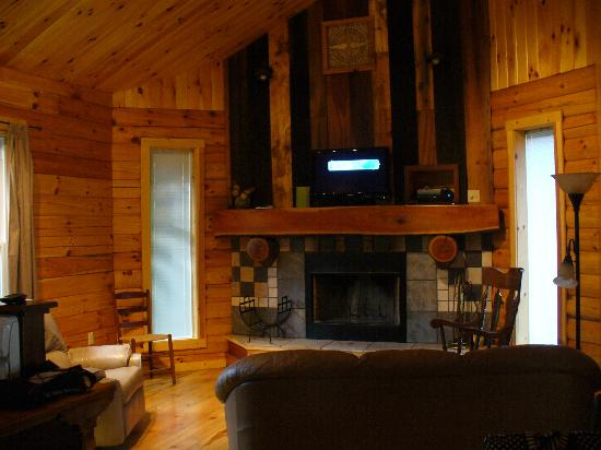 Beautiful Springwood Cabins: Kitchen/Living Room