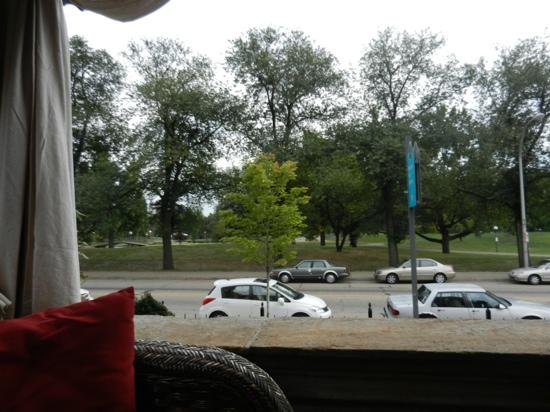 Inn on the Mexican War Streets : view of park from the porch