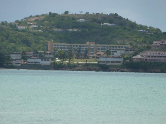 Grand Royal Antiguan Beach Resort: Hotel view from catermeran