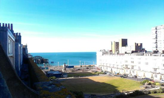 The view from my room at Brighton House