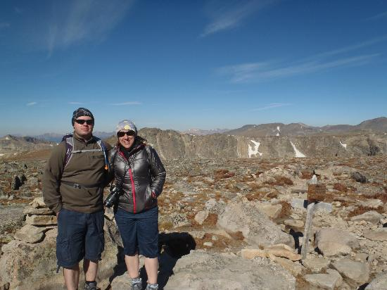 Flattop Mountain Trail: At the summit