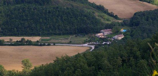 Agriturismo La Ferraia: Panorama di giugno con il grano maturo