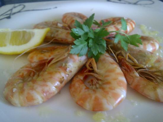 Les Palmeres Restaurant Marisqueria: Langostinos de San Carlos