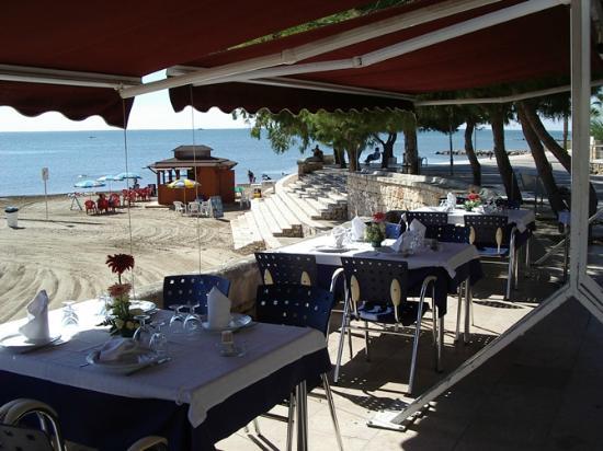 Les Palmeres Restaurant Marisqueria: Terraza