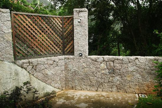 Villas de Jardin: ducha exterior