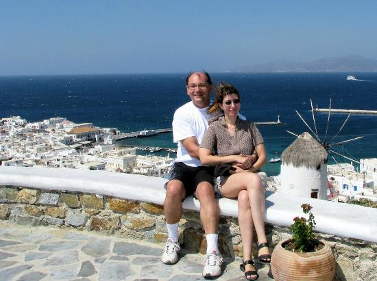 Alexandros Mykonos: The couple above the main town of the island