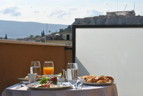 O&B Athens Boutique Hotel: Room with a view