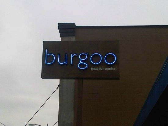 The sign outside burgoo on Main St., Vancouver
