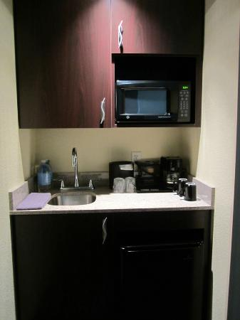 SpringHill Suites Medford: Fridge & microwave