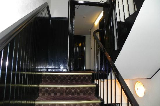 Park Hotel: stair case going to rooms
