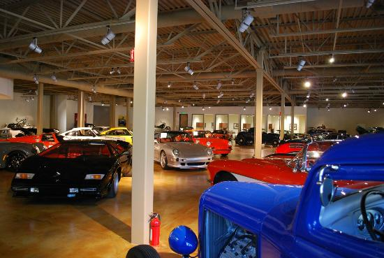 Canepa Motorsports Museum: There are two large display areas on two levels.