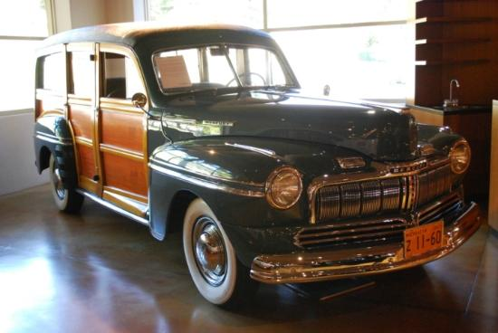 Canepa Motorsports Museum: A classic Mercury Woody at its finest.