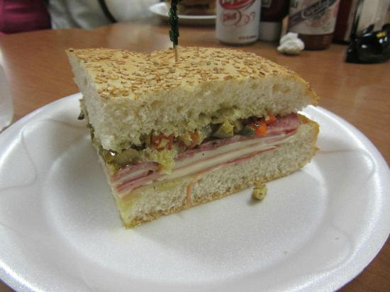 Serio's Po-Boys & Deli: One quarter of the famous muffaletta sandwich is a single serving.