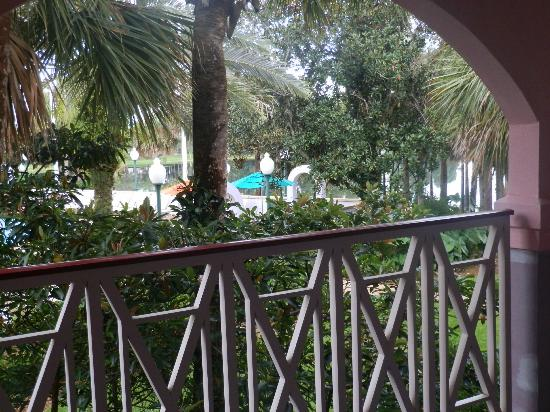 Disney's Caribbean Beach Resort: view from our door
