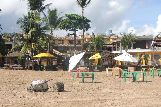 Pousada Funny: Vista da pousada, desde a praia.