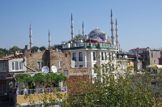 Artefes Hotel Istanbul: Blue Mosque from deck at daytime