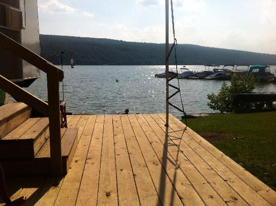 Otisco Lake Campgrounds: Amazing lake front.