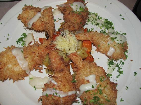 Fratelli's: Outstanding coconut shrimp. Had them twice.