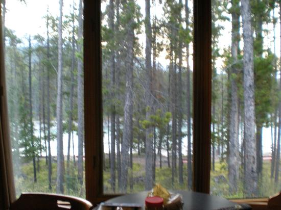 Jasper House Bungalows: Beautiful river view from the room!