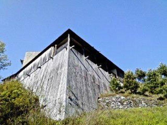 Hamamatsu, Japan: 秋野不矩美術館を裏側から見上げたところ。